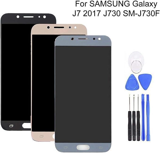 YWL-OU Reemplazo de Pantalla para Samsung Galaxy J7 Pro 2017 J730G LCD Display Digitalizador de Pantalla t/áctil Azul con un Conjunto de Herramientas