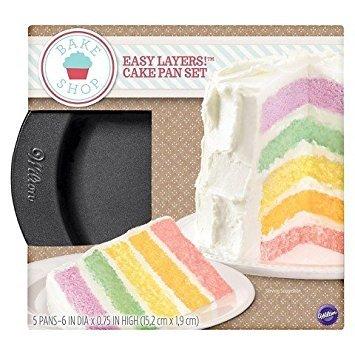 (Wilton 5 Piece Easy Layer Cake Pan Set)