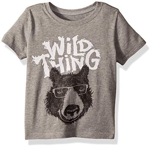 (Life if Good Toddler/Kids Crusher Graphic T-Shirts Collection,Wild Thing,Heather Gray,4T)
