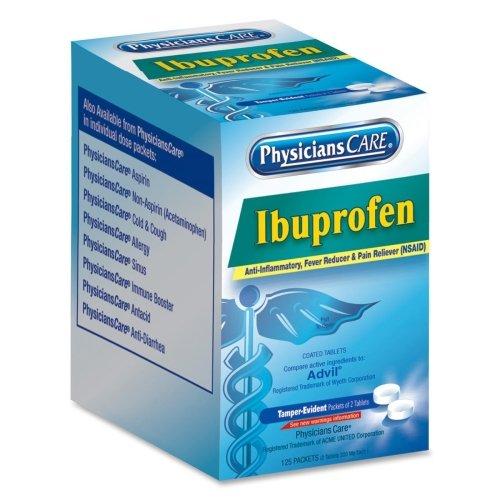 Wholesale CASE of 5 - Acme Ibuprofen Individual Dose Packets-Ibuprofen, Meds, 125PKS/BX, Blue by ACM