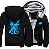 High quality anime thicken fleece hooded jacket unisex coat for sword art online fans. A best gift for yourself and your lovers,also good gift for anime fans.Perfect for cold day,winter,Christmas,birthday,thanksgiving day or other special time.Awesom...
