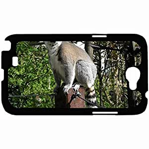 New Style Customized Back Cover Case For Samsung Galaxy Note 2 Hardshell Case, Back Cover Design Lemur Personalized Unique Case For Samsung Note 2