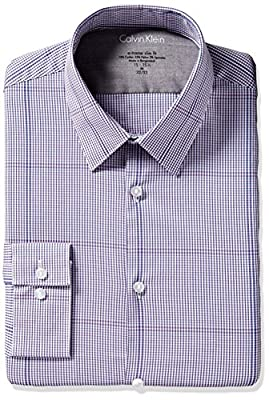 Calvin Klein Men's Xtreme Slim Fit Exploded Plaid Shirt