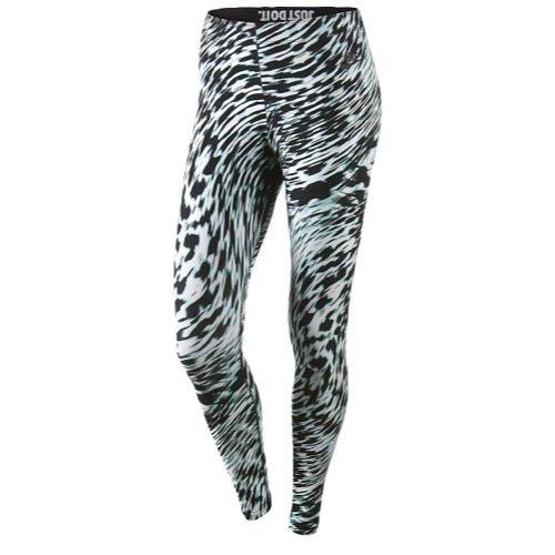 Nike Women's Leg-A-See-Windblur Pants (XL, White/Black)