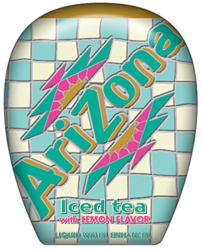 AriZona Iced Tea with Lemon Liquid Water Enhancer LWE (Pack of 10), Low Calorie Single Serving, Liquid Drink Mix, Just Add Water for Deliciously Refreshing Iced Tea Drink