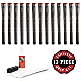 Winn Dri-Tac Standard Golf Grips - 13 Count Set, Dark Gray