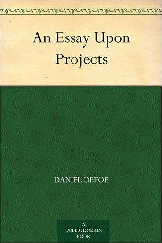 essay upon projects daniel defoe