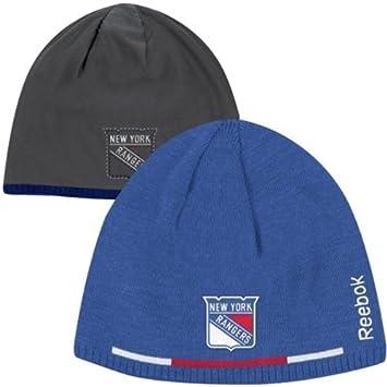ea7379ebb6a Reebok New York Rangers Player Reversible NHL Knit Hat  Amazon.co.uk   Sports   Outdoors