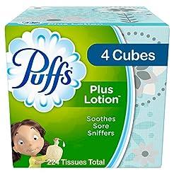 Puffs Plus Lotion Facial Tissues, 4 Cube...