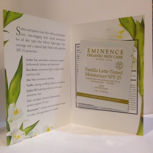 Eminence Vanilla Latte Tinted Moisturizer SPF 25 Sample Set of 6 Travel Size