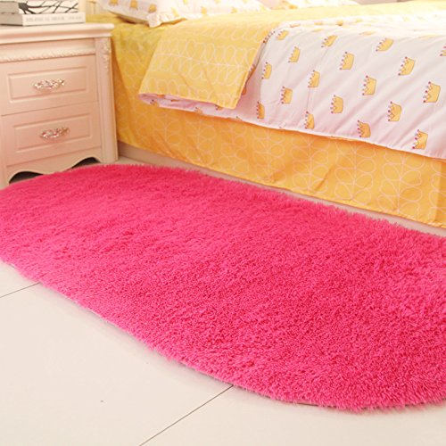 Sundian Oval massives Bett Schlafzimmer Schlafzimmer Schlafzimmer Schlafzimmer Flur Teppich im Wohnzimmer Teppich Teppich, 80  160 cm [Verdickung], Claret B077Z9N8LV Teppiche 9865f8