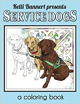 Service Dogs A Coloring Book Large Print
