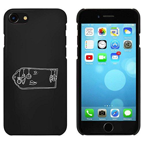 Noir 'Étiquette de Cadeau de Noël' étui / housse pour iPhone 7 (MC00067287)