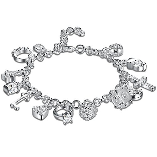 Boosic Silver Plated Rhinestone Bracelet
