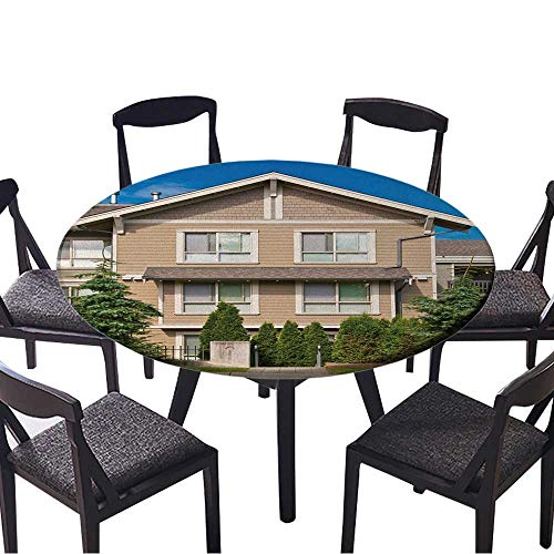 Round Premium Table Cloth Luxury House in Vancouver,Canada Perfect for Indoor, Outdoor 31.5