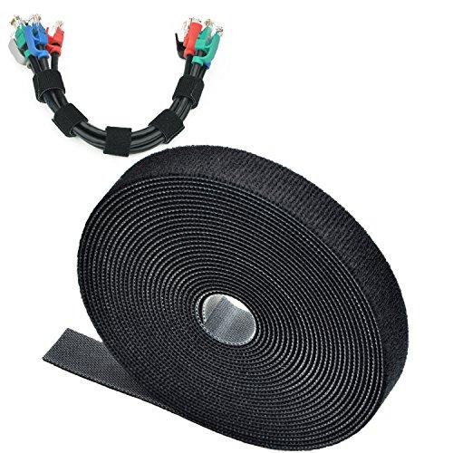 Mediabridge Cable Management Straps (40 Feet) - 15MM Width - Adustable & Reusable (Part# CM5-15-40B )