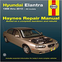 hyundai elantra 1996 thru 2010 haynes repair manual j j haynes 9781563929274. Black Bedroom Furniture Sets. Home Design Ideas