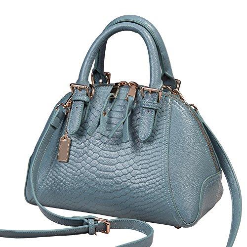 27 Main Mauea Bandoulière Cabas Sac Cuir Femme CM Bleu Taille 15 Tout Elégant Serpent Sac Affaire a Shopping Bureau Fourre 20 00rxa