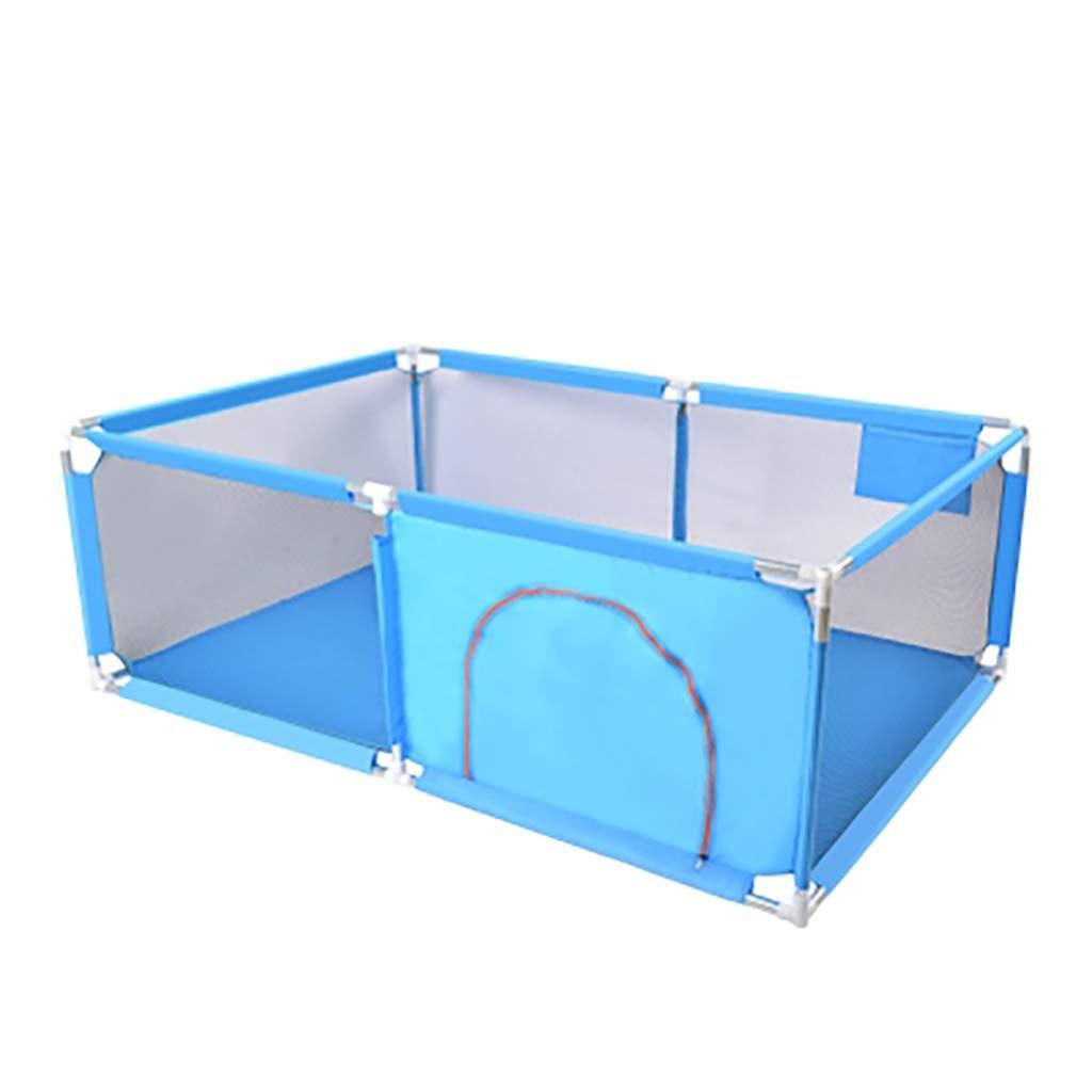 超人気新品 エクストララージベイビープレイペン、幼児用、赤ちゃん用、折りたたみ式 (色、コンパクトなベスト6パネルベビープレイヤー, 128x190cm 128x190cm (色 : 青) 青) 青 B07KFH5T7H, ムサシノシ:58d8a37d --- a0267596.xsph.ru