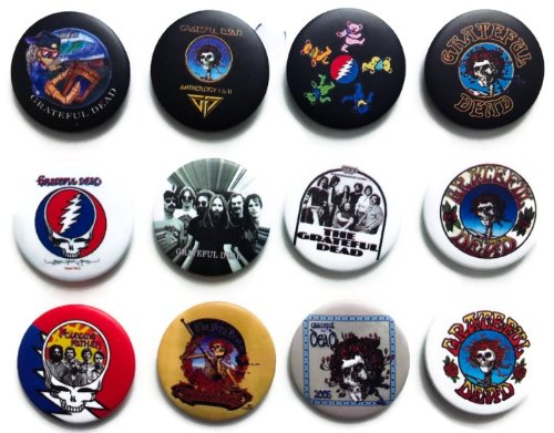 GRATEFUL DEAD Awesome Quality Lot 12 New Pins Pinbacks Buttons Badge 1.25 Inch