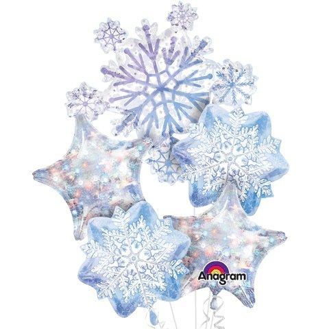 Glistening Snowflakes  Balloon Bouquet -