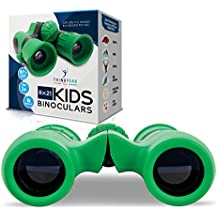 Binoculars for Kids High-Resolution by Think Peak Toys - 8x21 Kids Binoculars with Strap - Best for Bird Watching, Hiking, Outdoor Camping, Backyard Safari, Learning, Outside Play - Boys and Girls