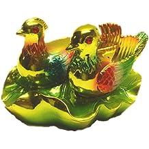 Feng Shui Mandarin Ducks /Yuan Yang Home Decor Statue for Marriage and Love ( with a Betterdecor Logo Gift Bag)