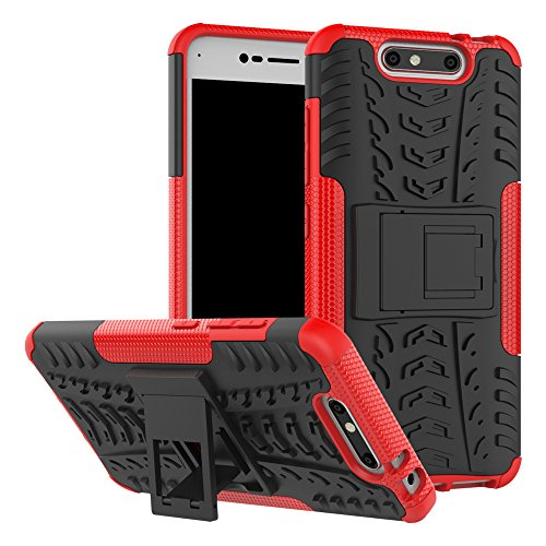 ZTE Blade V8 Case, ZTE Blade V8 Hybrid Case, Dual Layer Shockproof Hybrid Rugged Case Hard Shell Cover with Built-in Stand for 5.2'' ZTE Blade V8 [NOT fit 5.0'' ZTE Blade V8 Mini/V8 Lite]