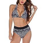 Voqeen-Costumi-da-Bagno-Donna-Mare-Bikini-Reggiseno-Imbottito-Push-Up-Costume-a-Fascia-Due-Pezzi-Halter-Bendare-Triangolo-Bottom-Tankini-Abiti-da-Spiaggia-Swimsuit