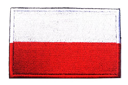 Poland Flag Poland National Flag Tactical EMBROIDERED HOOK & LOOP VELCRO ()