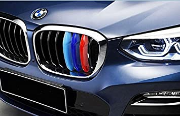 BizTech ® Parrillas de coche Inserciones Rayas decoración para BMW X3 X4 G01 F26 2018 M Power M Sport Tech ...: Amazon.es: Coche y moto