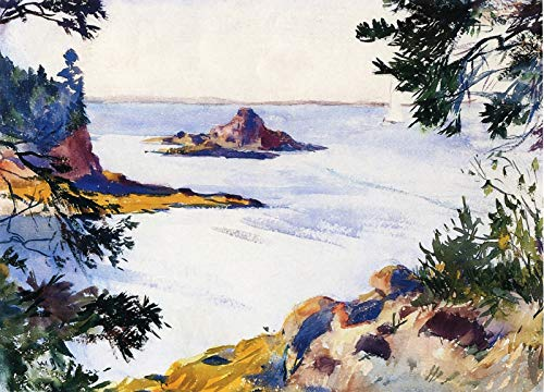 (Frank W. Benson Pulpit Rock, North Haven, Maine 1922 Private Collection 30