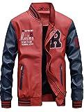 Product review for Mordenmiss Men's Basic Leather Letter Man Baseball Varsity Jacket Bomber Outwear