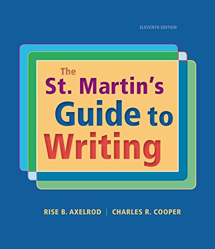The St. Martin's Orient to Writing