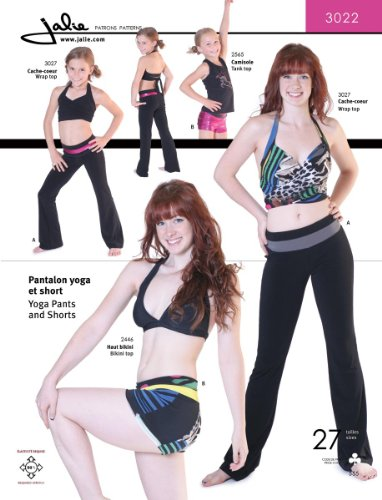 Dance Costume Patterns (Jalie Yoga Pants and Shorts Exercise Costume Sewing Pattern 3022)