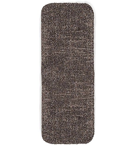 (Plow & Hearth Mud Rug Runner, Absorbent Dirt Trapping Machine Washable, Non Slip Indoor Mat, 29 W x 58 L - Taupe)