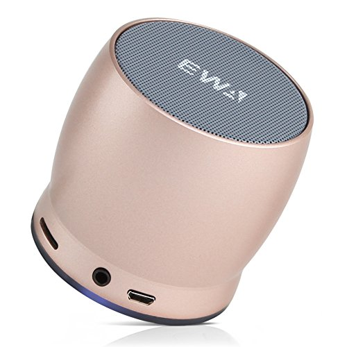 EWA Mini Bluetooth Speakers A150 Portable Speaker with HD Sound and Bass (Gold)
