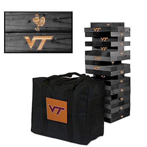 NCAA Virginia Tech Hokies 893729Virginia Tech Hokies Onyx Stained Giant Wooden Tumble Tower Game, Multicolor, One Size by Victory Tailgate