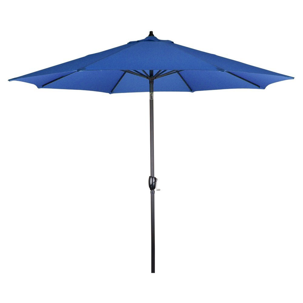 Astella PTS908709-F03 Aluminum Market Umbrella with Push Button Tilt and Outdoor Rated Olefin Fabric, 9-Feet, Royal Blue
