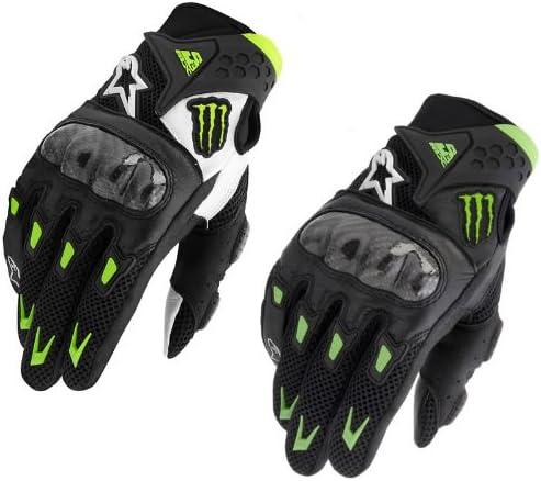Alpinestars Smx 2 M10 Air Motorrad Handschuhe Monster Energy Carbon Sport Freizeit