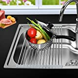 #1: Roll-up Over the Sink Dish Drying Rack Multi-purpose Stainless steel Kitchen Drainer