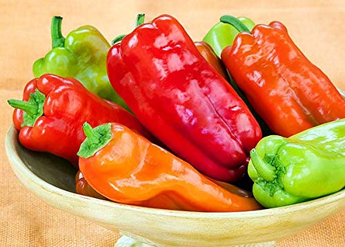 Pepper Sweet - 30+ ORGANICALLY Grown Cubanelle Sweet Pepper Seeds Heirloom Non-GMO, Delicious! from USA