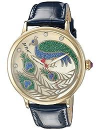 Betsey Johnson Women's BJ00496-33 Gold/Blue Watch