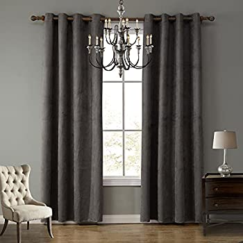 lohascasa suede curtains wide darkening energy efficient curtain floor length living room window curtains for