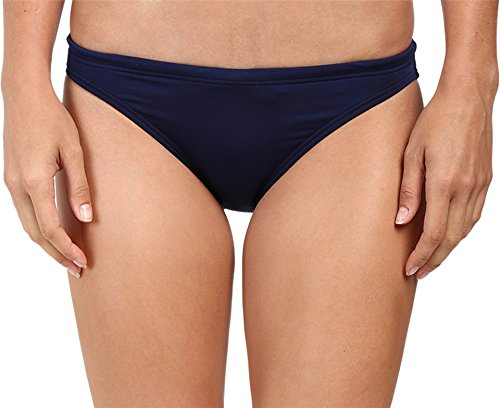 TYR BSO7A Women's Solid Active Bikini Bottom, Navy - M