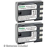 Kastar Battery (2-Pack) for Canon NB-2L NB-2LH NB-2L12 NB-2L14 NB-2L24 and PowerShot G7 G9 S30 S40 S45 S50 S60 S70 S80 DC410 DC420 VIXIA HF R10 HF R100 HF R11 EOS 350D 400D Digital Rebel XT Xti