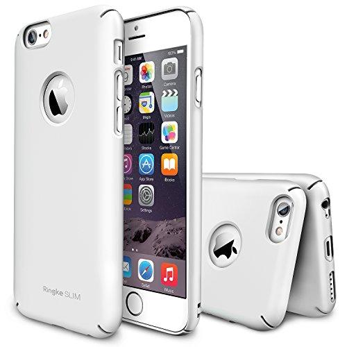 """iPhone 6 Hülle - Ringke SLIM iPhone 6 (4.7"""") Schutzhülle Hülle Tasche für Apple iPhone 6 4.7 Inch - Logo-Cut Out WHITE Weiß"""