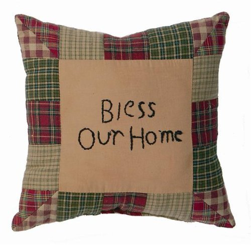Tea Cabin Pillow Bless Our Home 10x10 by Lasting Impressions
