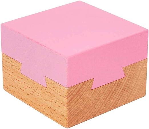 LMCLJJ Imposible Caja de Cola de Milano Mini 3D Rompecabezas de Madera Magic Puzzle cajones Regalo de la joyería Caja de Juguetes (Paquete de 2): Amazon.es: Hogar