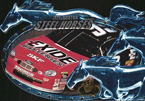 1999 Press Pass Premium Steel Horses #SH12 Jeff Burton's Car - - Steel Car Pass